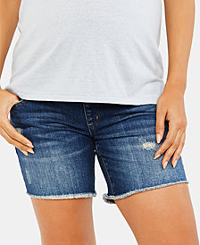 Luxe Essentials Maternity Denim Shorts