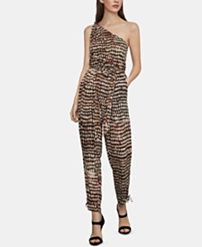BCBGMAXAZRIA One-Shoulder Jumpsuit