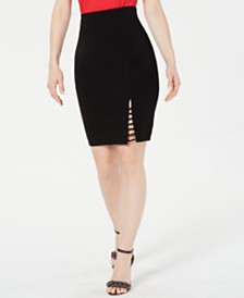 GUESS Maeko Strappy Pencil Skirt