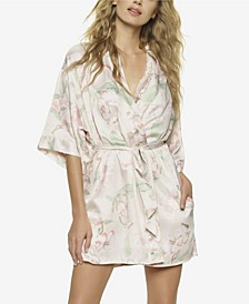 Muse Satin Wrap Robe, Online Only