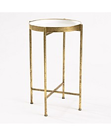 Small Gild Pop Up Tray Table - White