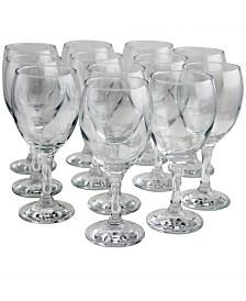 Pasabahce Prestige 12 Piece 11.75 Ounce All Purpose Wine Glass Set