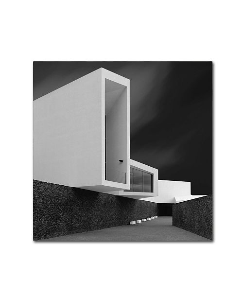"Trademark Innovations Olavo Azevedo 'White Walls' Canvas Art - 18"" x 18"" x 2"""
