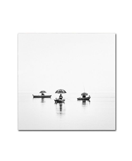 "Trademark Innovations Nina Pauli 'Fishermen S World' Canvas Art - 24"" x 24"" x 2"""
