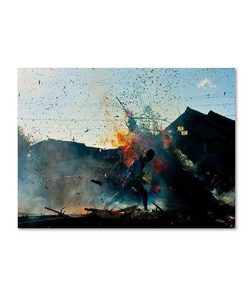 "Trademark Global Tetsuya Hashimoto 'Fire Festival' Canvas Art - 47"" x 35"" x 2"""