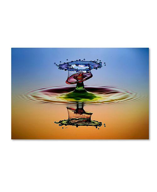 "Trademark Global Muhammad Berkati 'Cmyk' Canvas Art - 19"" x 12"" x 2"""