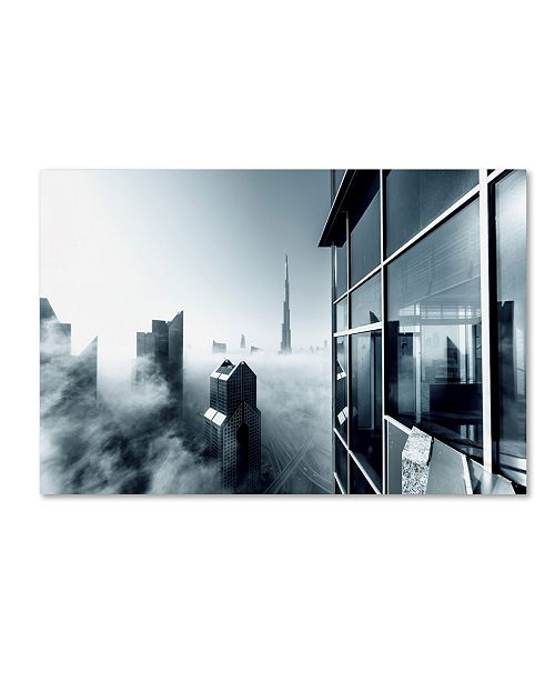 "Trademark Global Naufal 'Foggy City' Canvas Art - 47"" x 30"" x 2"""