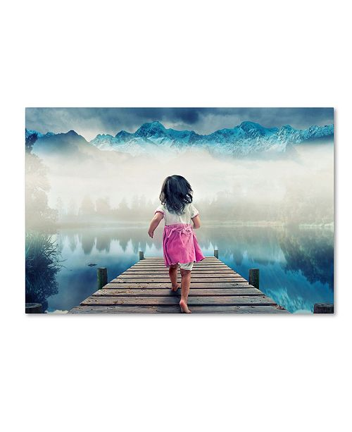"Trademark Global Muhammad Munir 'Runaway' Canvas Art - 32"" x 22"" x 2"""