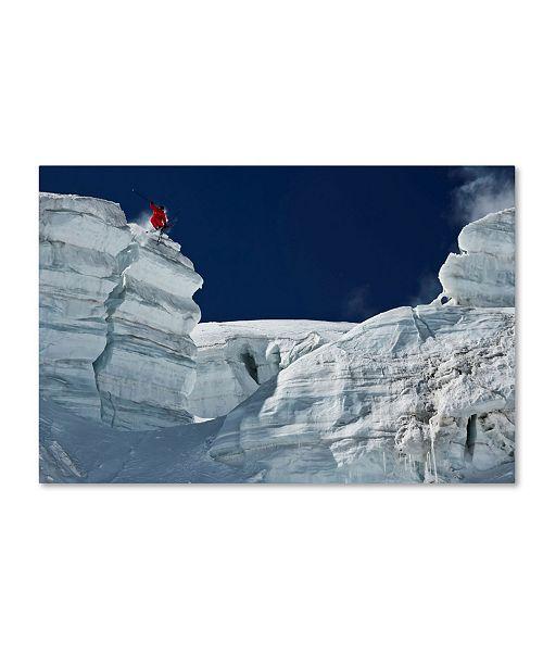 "Trademark Global Tristan Shu 'Cliff Jumping' Canvas Art - 24"" x 16"" x 2"""