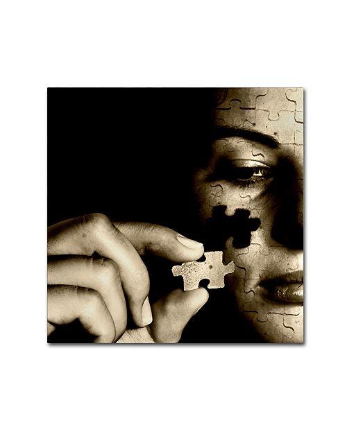 """Trademark Global Daniele Porceddu 'Pezzo Dopo Pezzo' Canvas Art - 24"""" x 24"""" x 2"""""""