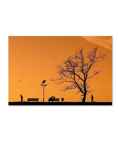 "Trademark Global Dan Mirica 'Moments' Canvas Art - 24"" x 16"" x 2"""