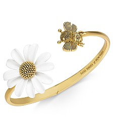kate spade new york Gold-Tone Bee & Flower Cuff Bracelet