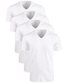 Men's Cotton Stretch V-Neck Undershirts 4-Pack