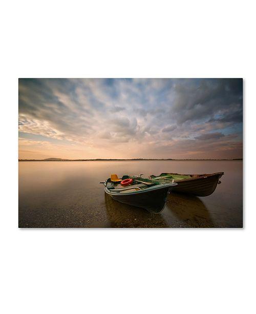 "Trademark Global Piotr Krol 'Boats' Canvas Art - 24"" x 16"" x 2"""