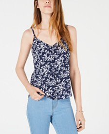 Maison Jules Floral-Print Button-Front Camisole, Created for Macy's