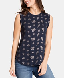 WILLIAM RAST Kai Printed Vented Top