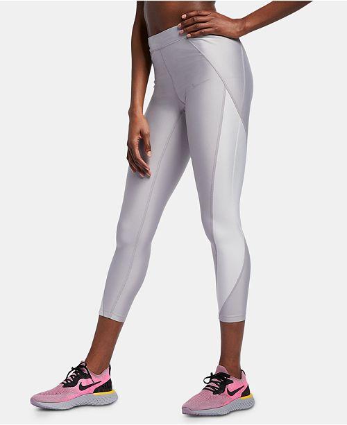 fe03b9b30b ... Nike Speed Power Colorblocked Metallic Ankle Running Leggings ...