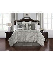Waterford Celine Dove Grey California King Comfoter Set
