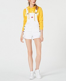 Juniors' Checker Roll-Hem Shortalls
