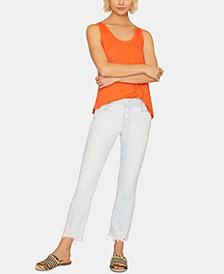 Connector Kick Frayed-Hem Capri Jeans