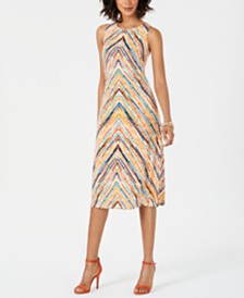 Jessica Howard Sleeveless Printed Jersey Midi Dress