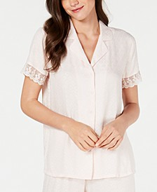Lace-Trim Pajama Top, Created for Macy's