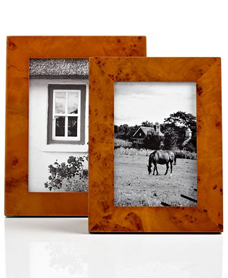 CLOSEOUT! Martha Stewart Collection Picture Frame, Honey Burl Wood ...