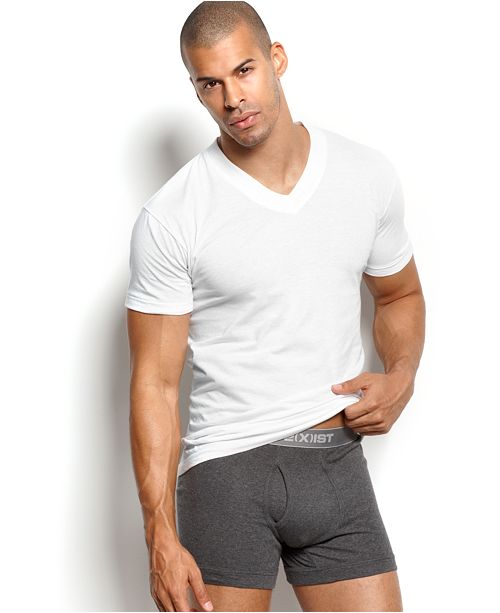 2(x)ist Men's Essential 3 Pack Jersey V-Neck T-Shirt
