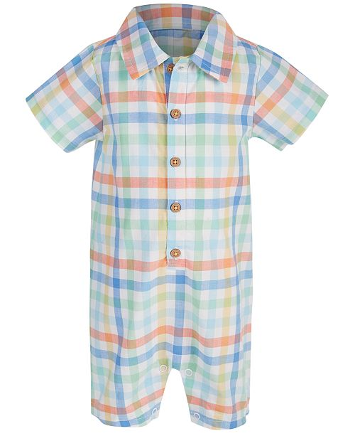 First Impressions First Impression's Baby Boy's Plaid Bodysuit, Created for Macy's