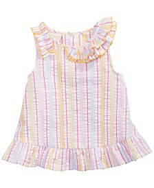 First Impressions Baby Girls Ruffle Striped Seersucker Top, Created for Macy's