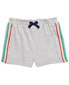 Baby Girls Side Stripe Shorts, Created for Macy's