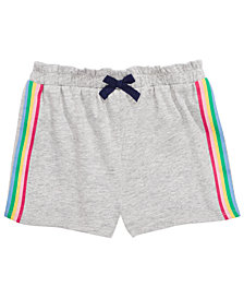 First Impressions Baby Girls Side Stripe Shorts, Created for Macy's