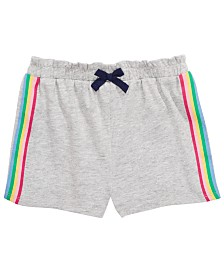 First Impressions Toddler Girls Side Stripe Shorts, Created for Macy's