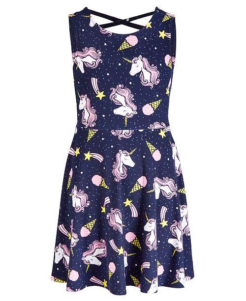 Epic Threads Big Girls Unicorn-Print Dress, Created for Macy's