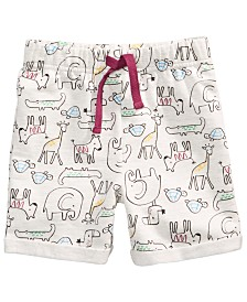 First Impressions Baby Boys Animal-Print Knit Shorts, Created for Macy's