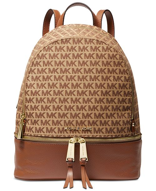 Michael Kors Rhea Jacquard Signature Backpack