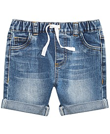 First Impressions Baby Boys Rolled Cuff Denim Shorts, Created for Macy's