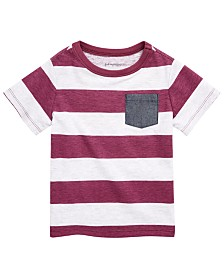 First Impressions Baby Boys Striped T-Shirt, Created for Macy's