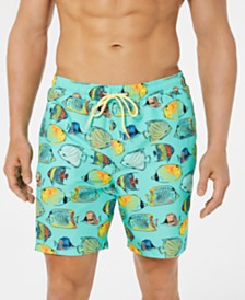 "Club Room Men's Bluegill Quick-Dry 7"" Swim Trunks, Created for Macy's"