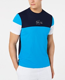 Lacoste Men's Ultra Dry Colorblocked Logo Graphic T-Shirt