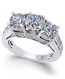 Diamond Three Stone Engagement Ring (3 ct. t.w.) in 14k White Gold