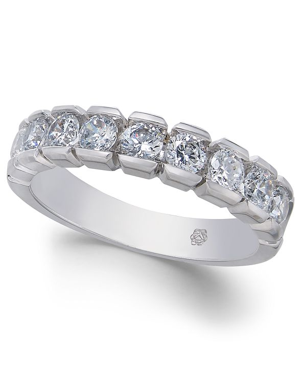 Macy's Diamond Band (1 ct. t.w.) in 14k White Gold