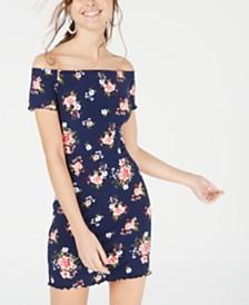 Ultra Flirt Juniors' Off-The-Shoulder Bodycon Dress