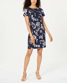 Karen Scott Floral-Print Short-Sleeve Dress, Created for Macy's