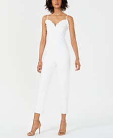 Adrianna Papell Ruffle-Trim Jumpsuit