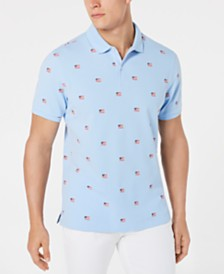 Club Room Men's American Flag Polo, Created for Macy's