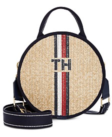 Tommy Hilfiger Evie Straw Crossbody