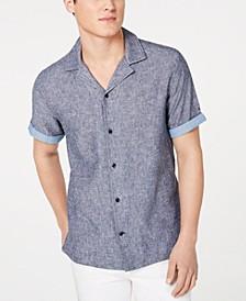 Men's Cooper Custom-Fit Linen Camp Shirt