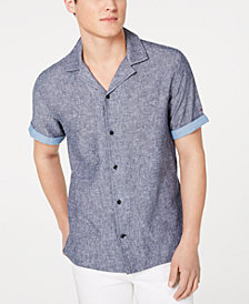 Tommy Hilfiger Men's Cooper Custom-Fit Linen Camp Shirt