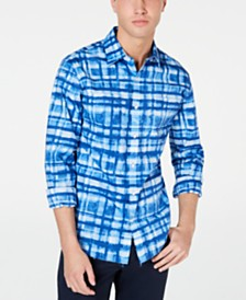 Michael Kors Men's Slim-Fit Stretch Plaid Shirt